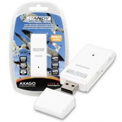 AXAGON externí HANDY čtečka SD/MicroSD/MS/M2, bílá