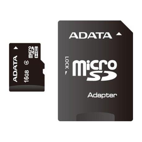 ADATA 16GB MicroSDHC Card with Adaptor Class 4