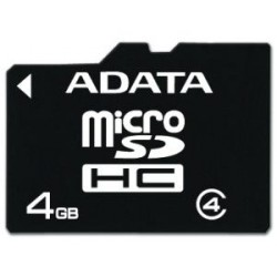 ADATA 4GB MicroSDHC Card Class 4