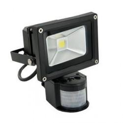 WE LED světlomet venkovní 10W,detektor pohybu,bíla