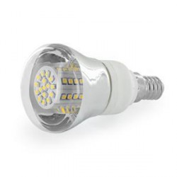 WE LED žárovka 80xSMD 4W E14 bílá - reflektorová
