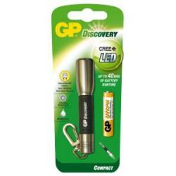 Svítilna LED GP LCE202 + 1 baterie GPAAA - silver