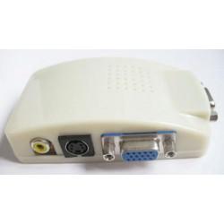Převodník signálu z PC  TV cinch + s-video