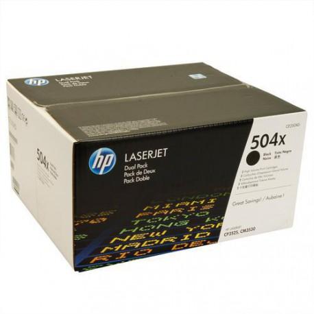 HP tisková kazeta černá velká - 2 pack, CE250XD