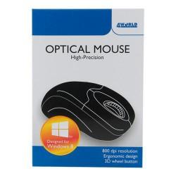 4World Myš optická Basic3 USB 1200dpi Black