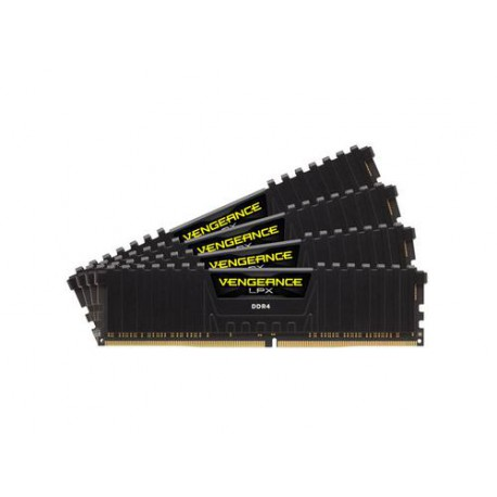 CORSAIR 16GB 4x4GB DDR4 2666MHz VENGEANCE LPX BLACK PC4-21300 CL16-18-18-35 1.2V XMP2.0 (16GB kit 4ks 4GB s chladičem