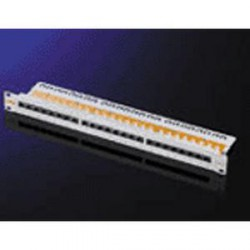 patch panel 19 kat 6e utp 24 portu sedy cerny