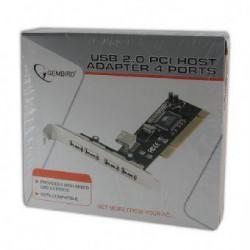 GEMBIRD PCI řadič 4x USB 2.0 ext.+1 USB2.0 interní, interní karta