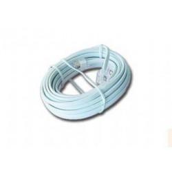 KABEL telefonní 4 žil, 5.0m s konektory bílý GEMBIRD TC6P4C-5M