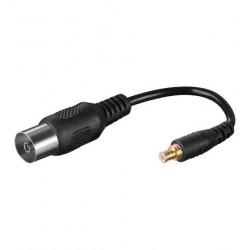 Kabel adapter koaxial IEC female - MCX male 10cm