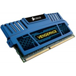CORSAIR 16GB 2x8GB DDR3 1600MHz VENGEANCE BLUE PC3-12800 CL10-10-10-27 1.5V (16GB  kit 2ks 8GB s chladičem Vengeance modrý, vhod