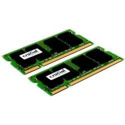 SO-DIMM kit 2GB DDR2-667 MHz Crucial CL5, 2x1GB