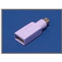 REDUKCE USB-PS2, pro připojení USB klávesnice na PS2 port, fialový