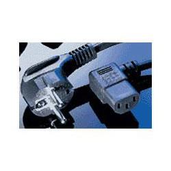 Kabel síťový 220V/230V, 1.8m - zalomený 90 stupňů - VDE
