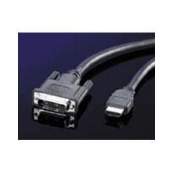 KABEL propojovací DVI-HDMI, DVI-D(M)/ HDMI M,single link,5.0m