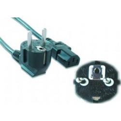 Kabel síťový 3.0m VDE 220/230V napájecí GEMBIRD certifikovaný