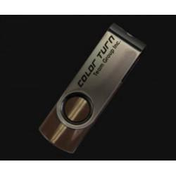 TEAM E902 ColorTurn 8GB USB2.0 flash drive (barva hnědá, otočný konektor, kovové pouzdro)