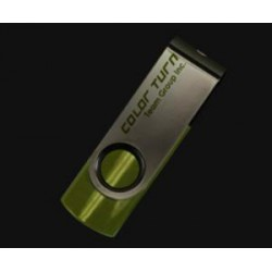 TEAM E902 ColorTurn 16GB USB2.0 flash drive (barva zelená, otočný konektor, kovové pouzdro)