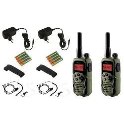 TOPCOM TwinTalker 9500 LONG RANGE AIRSOFT edition 2x vysílačka+ nabíječka+ baterie+ sluchátka, voděodolná, vojenské maskování (v