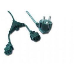 Kabel síťový 2.0m VDE 220/230V napájecí Y rozdvojka GEMBIRD certifikovaný