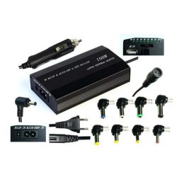 EUROCASE 100W univerzální napájecí adaptér vstup 110-240V / CAR 12V, výstup 12-24V (9 různých koncovek)