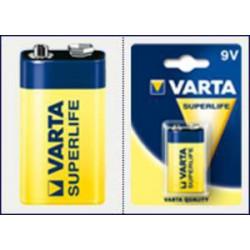 VARTA 1ks SuperLife 9V E-BLOK/6LR61 baterie (zinko-chlorid)