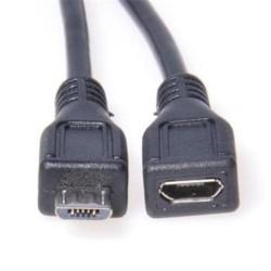 KABEL USB micro 2.0 - microUSB male-female, prodlužovací, 3m