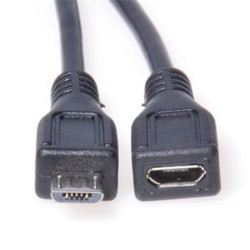 KABEL USB micro 2.0 - microUSB male-female, prodlužovací, 5m