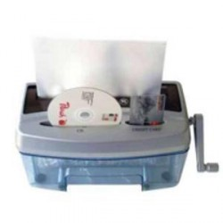 PEACH skartovačka ruční PS300-21 papír+CD/DVD+kreditky (stupen utajeni 3) - 510474