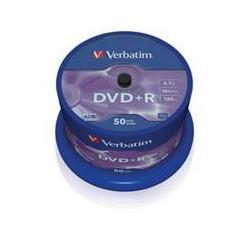 VERBATIM DVD+R(50-Pack),Spindl/MattSlvr/16x/4.7GB