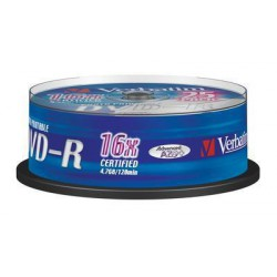 VERBATIM 43538 DVD-R 25cake 16x printable media (krabice 8x25pack)