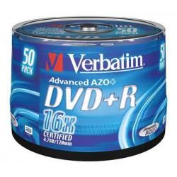 VERBATIM 43550 DVD+R 50cake 16x silver media (krabice 4x50pack)
