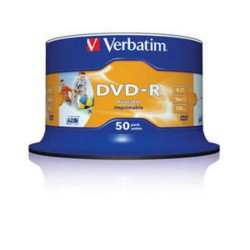 verbatim 43533 dvd r wide 50cake 16x printable media krabice 4x50pack