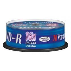 VERBATIM 43522 DVD-R 25cake 16x silver media (krabice 8x25cake)