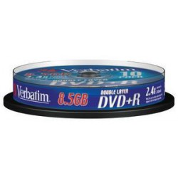 VERBATIM 43666 DVD+R DL 10spindle 8x media (double layer) 8.5GB (krabice 20x10pack)