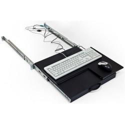 19' polička výsuvná/otočná pro klávesnici a myš