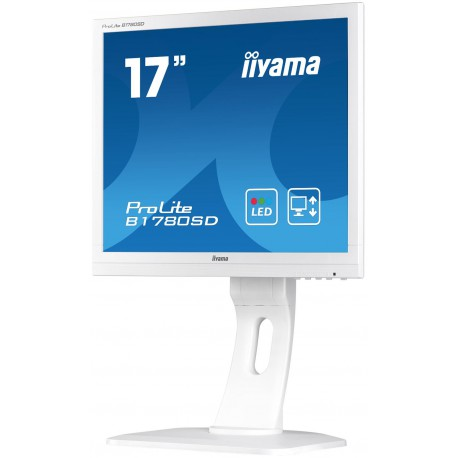 "17"" LCD iiyama Prolite B1780SD-W1 - 5ms,250cd/m2,1000:1,5:4,VGA,DVI,repro,pivot,výšk.nastav.bílý"
