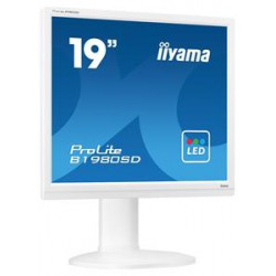 "19"" LCD iiyama Prolite B1980SD-W1 - 5ms,250cd/m2,1000:1,5:4,VGA,DVI,repro,pivot,výšk.nastav.bílý"