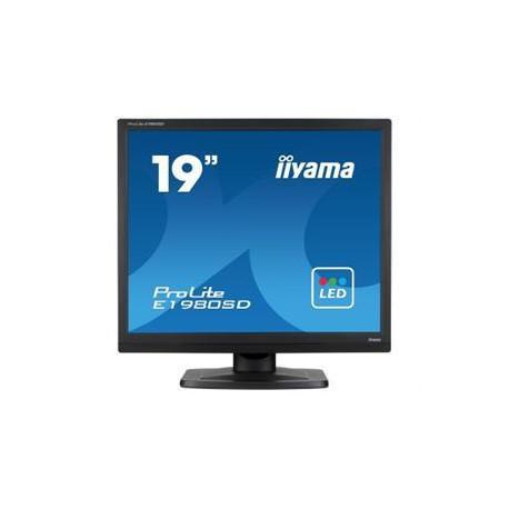 "19"" LCD iiyama Prolite E1980SD-B1 - 5ms, 250cd/m2, 1000:1 (12M:1 ACR), 5:4, VGA, DVI, repro"