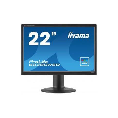 """22""""LCD iiyama B2280WSD-B1 - 5ms, 250cd/m2, 16:10, 1000:1, VGA, DVI, repro, pivot, výšk.nastav.černý"""