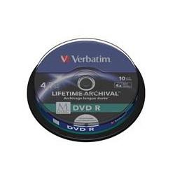 VERBATIM DVD R 4,7 GB (120min) M-Disc 4x Printable, 10-cake