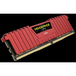 CORSAIR 8GB 2x4GB DDR4 2666MHz VENGEANCE LPX RED PC4-21300 CL16-18-18-35 1.2V XMP2.0 (8GB kit 2ks 4GB s chladičem červený
