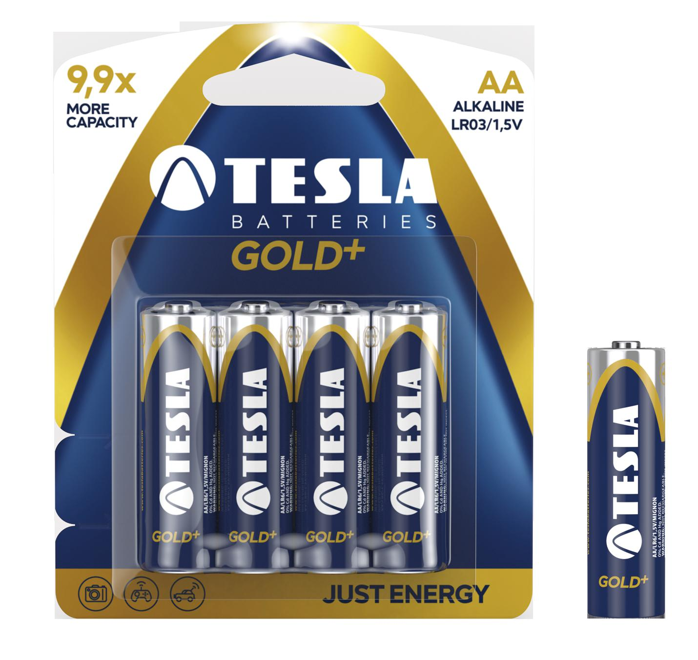 TESLA TESLA - baterie AA GOLD+, 4ks, LR06 1099137004